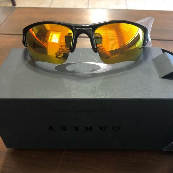 879254e4a1 Oakley Flak Jacket XLJ Fire Iridium Sunglasses